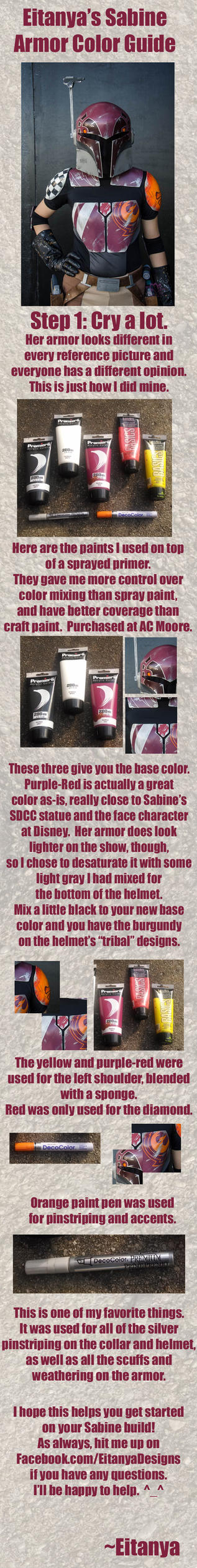 Eitanya's guide to Sabine armor colors by eitanya