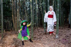 Amaterasu and Issun - Okami cosplay by eitanya