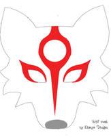 Wolf mask pattern with Okami markings by eitanya