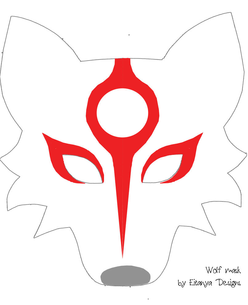 Wolf mask pattern with Okami markings by eitanya on DeviantArt