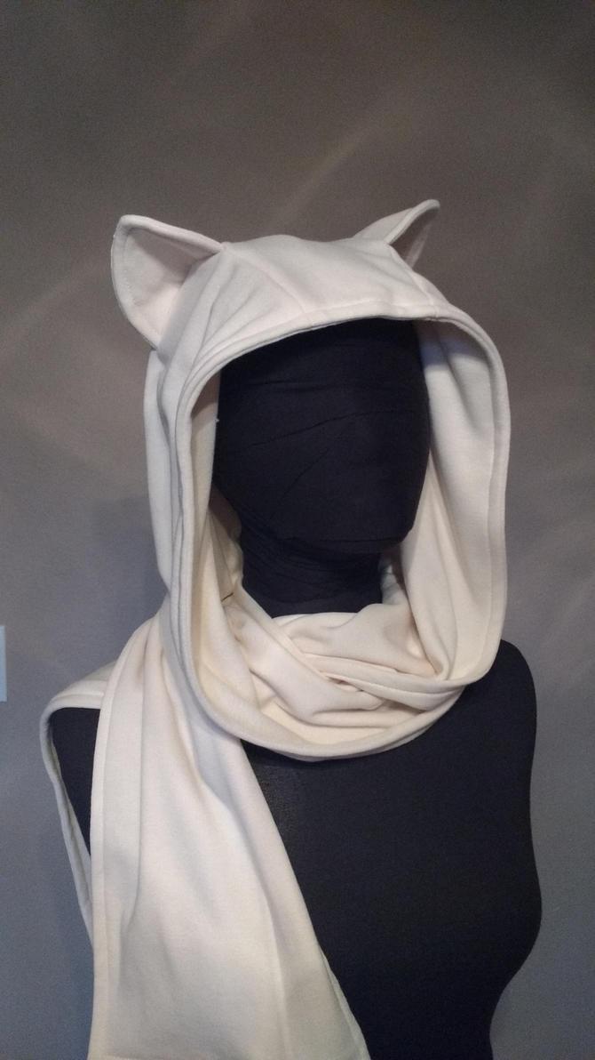 Kitty hoodie scarf by eitanya