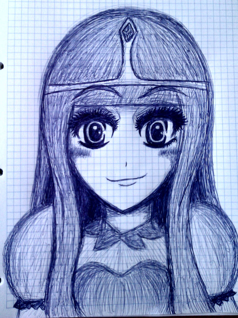 Princess Bubblegum sketch by me~Adventure Time! by LadyEdile