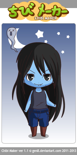 Random pic Chibi Maker:Marceline~Adventure Time! by LadyEdile