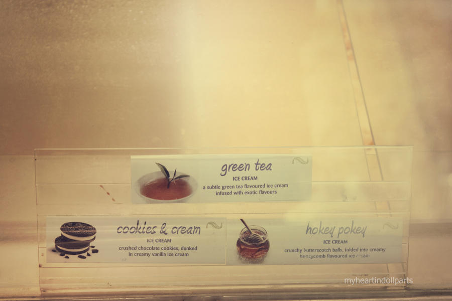 green tea and ice cream. by myheartindollparts