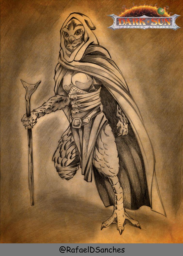 Aarakocra Druid / Yassimina by rafaeldsanches