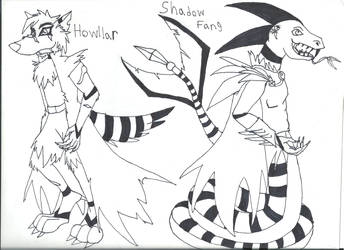 Shadowfang and Howlar Redone by Demon-Angel1200