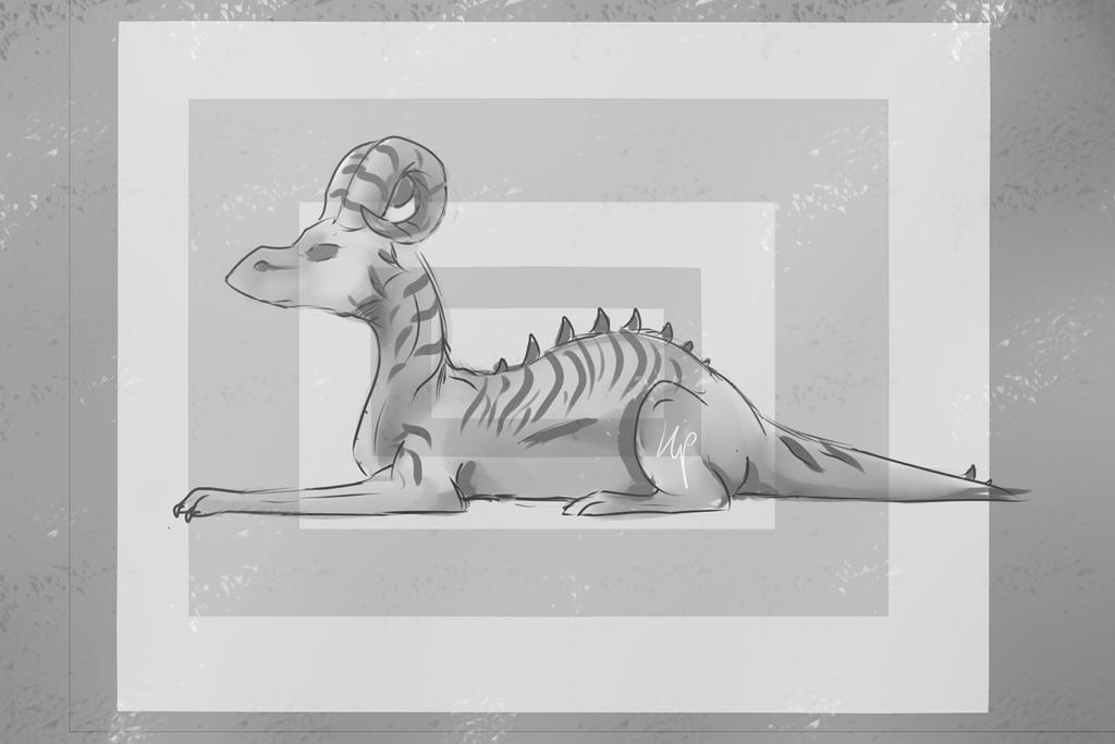 I did a dragon by SasonyaWolf