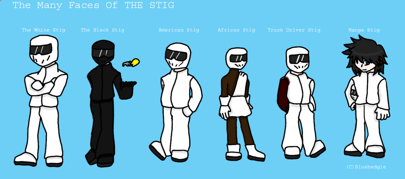 top gear the stig by just abigail on deviantart. Black Bedroom Furniture Sets. Home Design Ideas