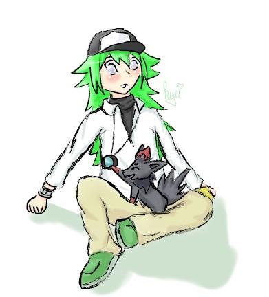 :: N and Zorua :: by Kyubey-chan