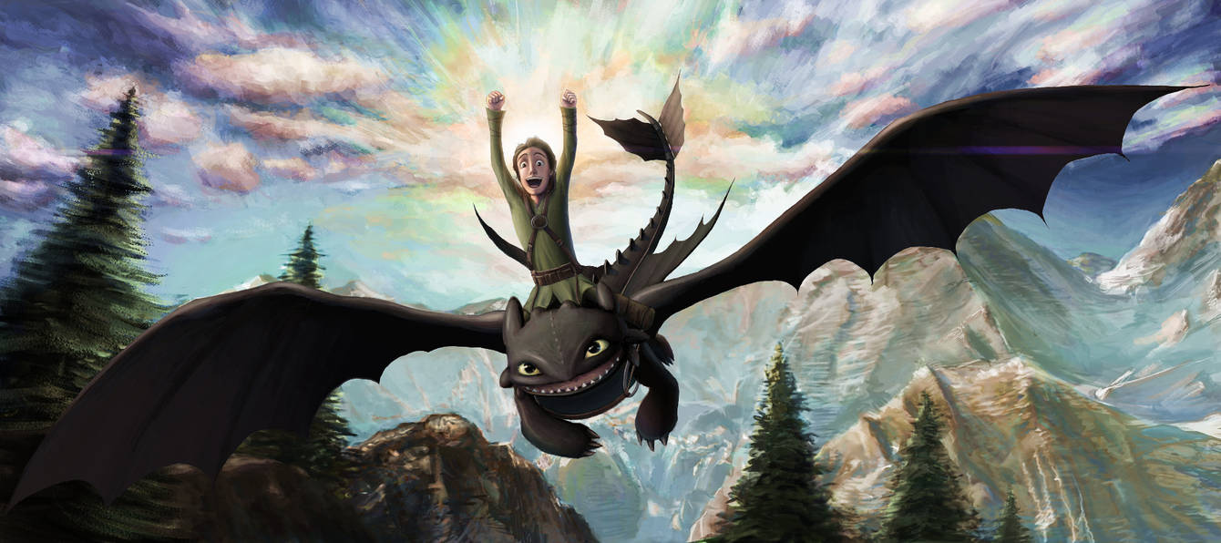 Hiccup and Toothless by Helushka-8