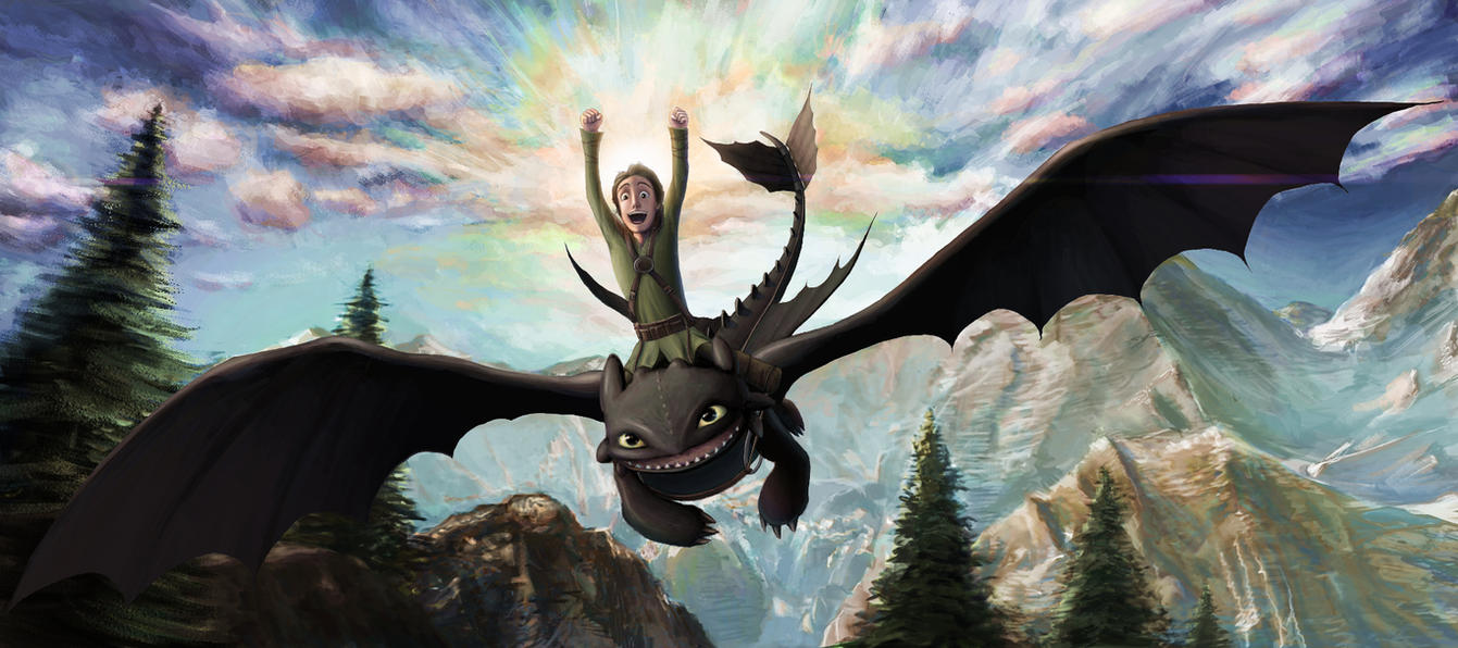 Hiccup and Toothless by HawkeyeWong