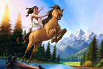 Spirit Stallion of the Cimarron by Helushka-8