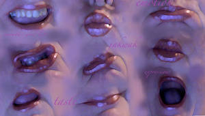 mouths and lips