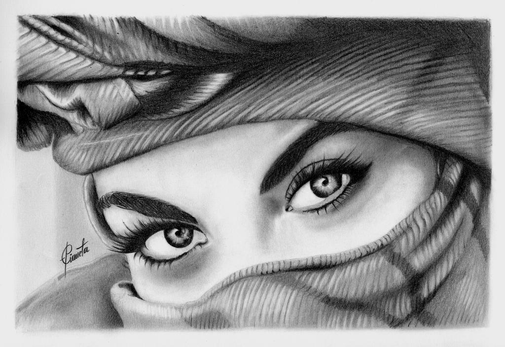 Ojos de musulmana dibujo a lapiz by Epianeta on DeviantArt