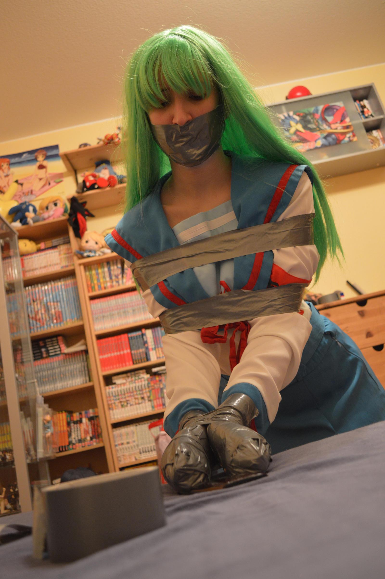 Poor school girl in tape trouble 1 by Natsuko-Hiragi