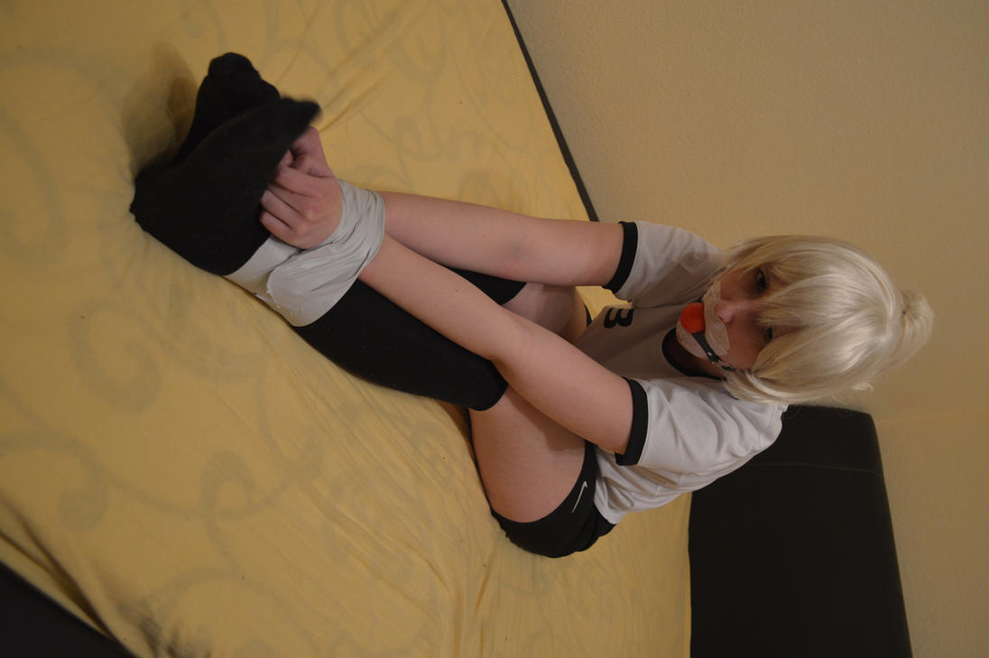 Superwoman tied up and starts to love it 5