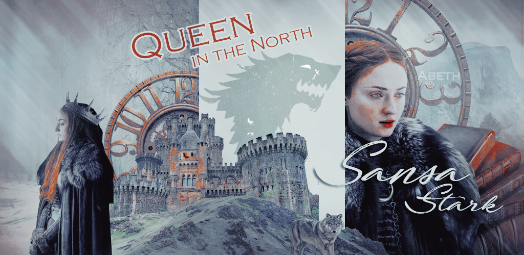 ♕ Háttérhatalom kacatjai Sansa_stark___queen_in_the_north_by_abeth98-dc3frlz