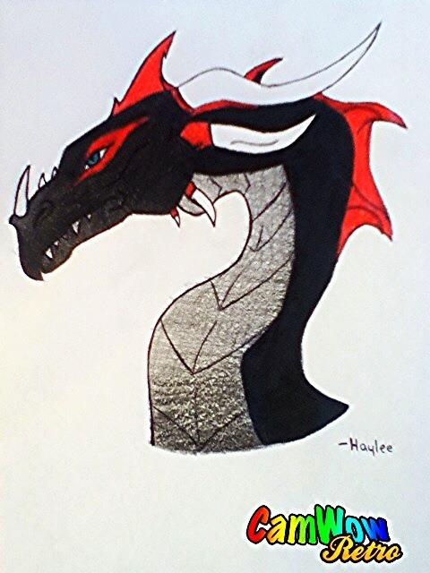 Darion's Crimson Dragon by HayleeFox15