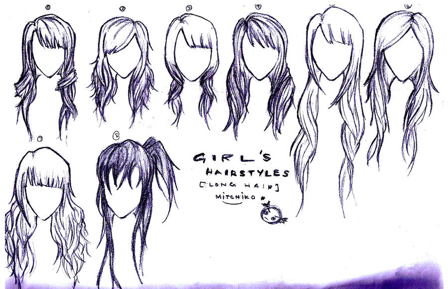 anime girl hairstyles   New Cool Trend HairstylesAnime Girl Hairstyles Long