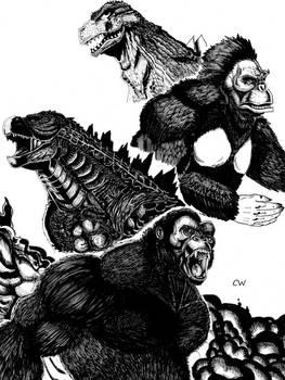 Godzilla VS King Kong by ChristianWillett