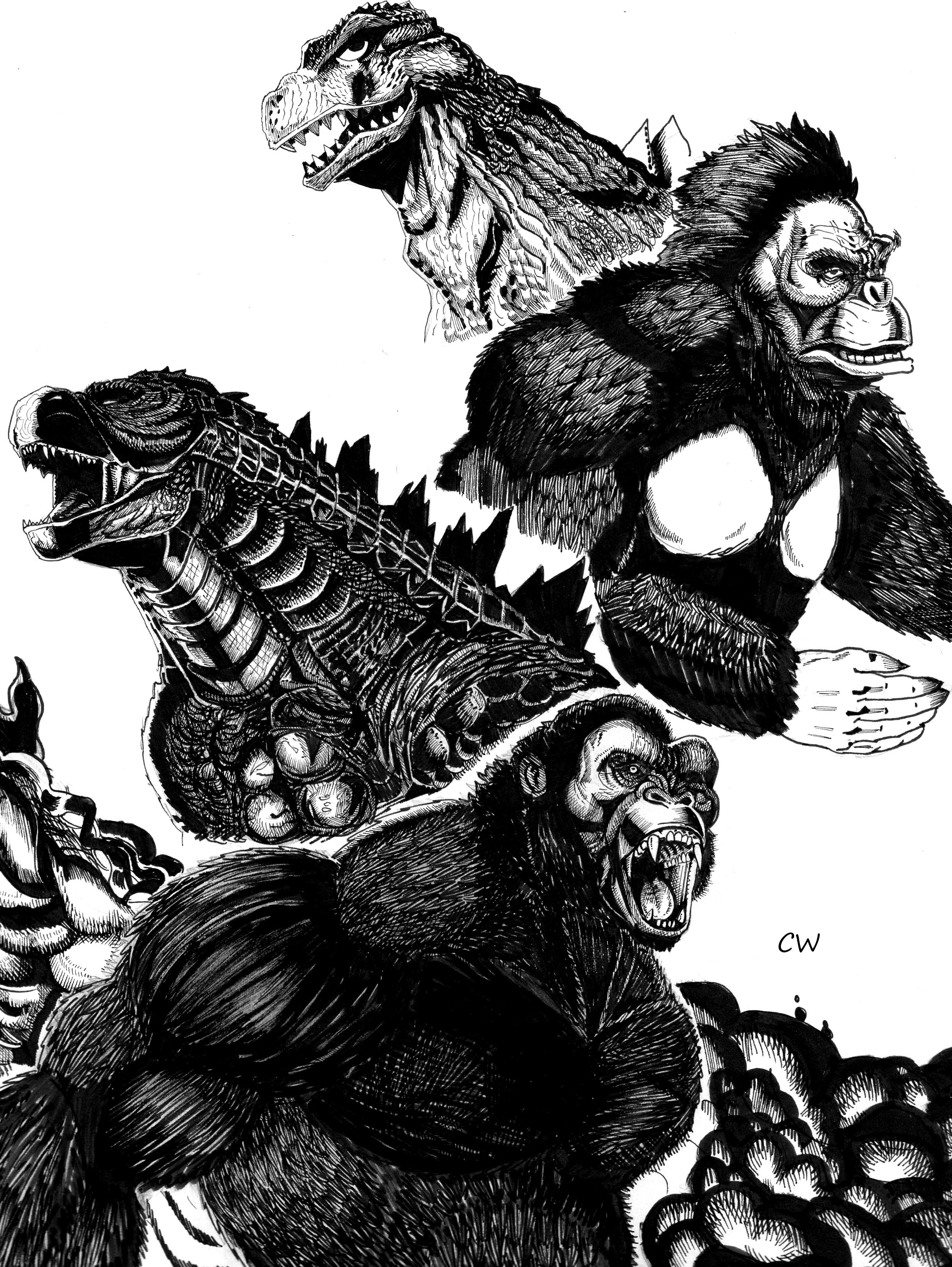 Godzilla VS King Kong by ChristianWillett on DeviantArt