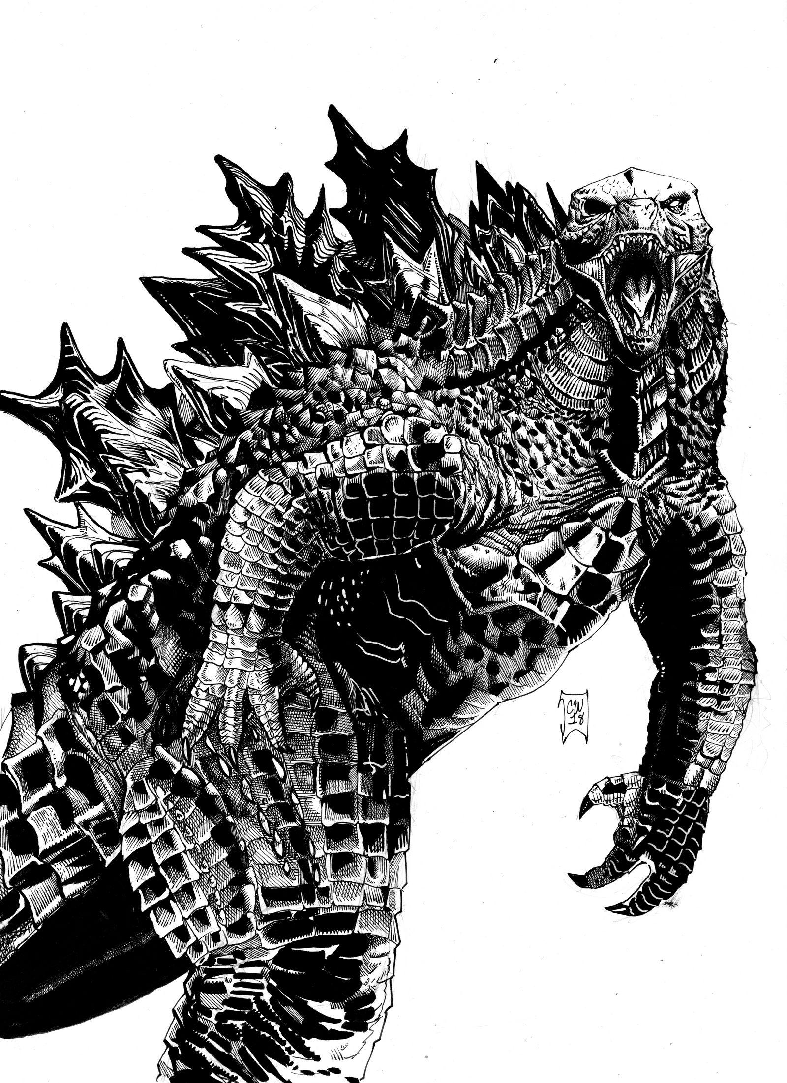 Godzilla 2019 by christianwillett on deviantart