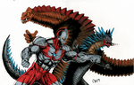 Ultraman vs Bemular vs Red King by ChristianWillett