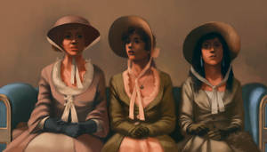Mrs. Bennet and her two youngest daughters