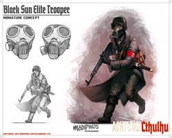 Achtung! Cthulhu - Black Sun Elite Trooper by giorgiobaroni