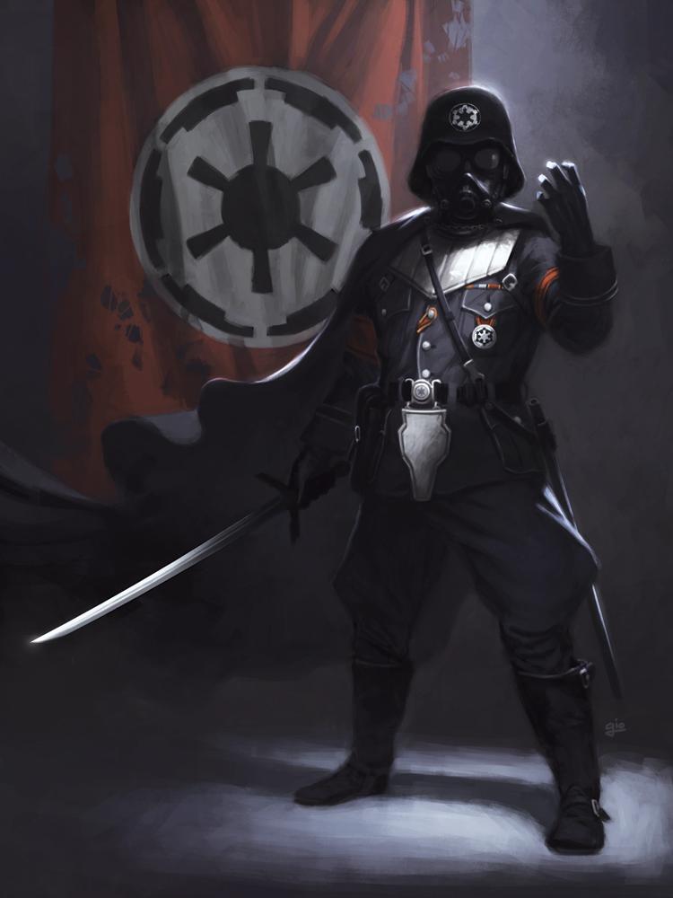 Star Wars redesign: Darth Vader by giorgiobaroni