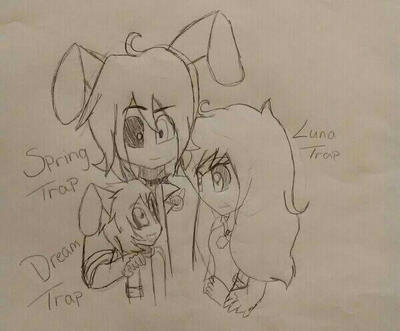 Trap family (fnaf x my oc) by KyubiLove