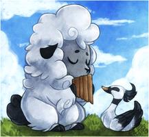 + Sheep's Pan Flute + by Obedaiya