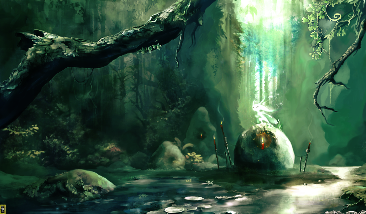 The Deep Forest Heart by Simbaro
