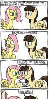 Where Fluttershy Learnt the Stare