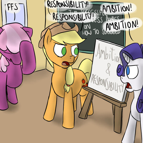 AJ and Rarity's Seminar by timsplosion
