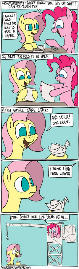 Pinkie Learns Origami