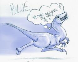 Blue's Senpai by timsplosion