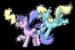 Sea Swirl and Sassaflash's Balloons