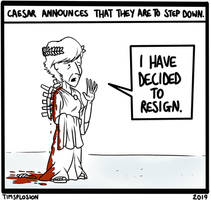 Caesar Steps Down