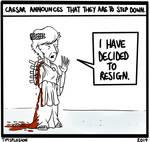 Caesar Steps Down by timsplosion