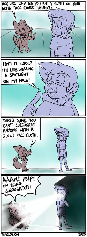 Useful Mask - Owl House Fan Comic