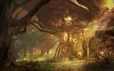 Forest Retreat by JoshCalloway