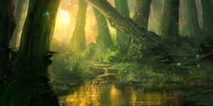MTGO Academy Tranquil Forest by JoshCalloway