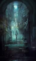 Dark British Street by JoshCalloway