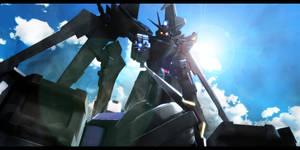 Strike Noir Gundam vs Strike Gundam
