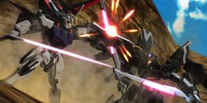 Strike Gundam vs Strike Noir Gundam