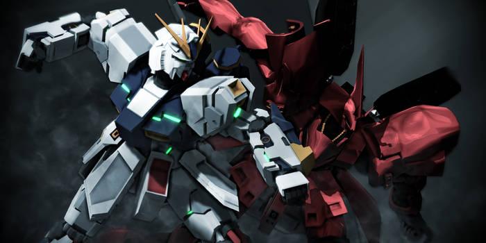 Nu Gundam vs Sazabi