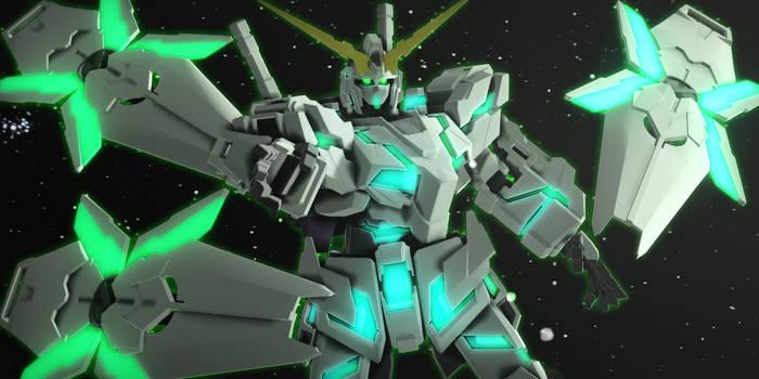 Unicorn Gundam Green Psychoframe