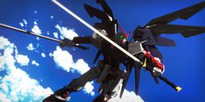 Astray Gundam Red Frame + Freedom Pack