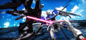 Strike Noir Gundam vs Force Impulse Gundam